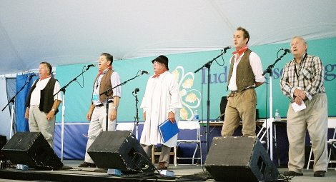 Kent's Millen Family of traditional singers sing for the Smithsonian Folklife Festival